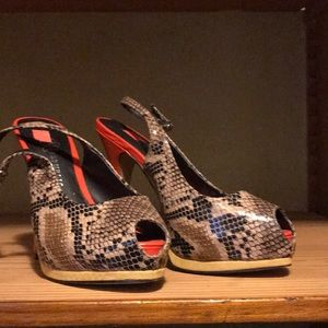 Snakeskin Rock and Republic heels